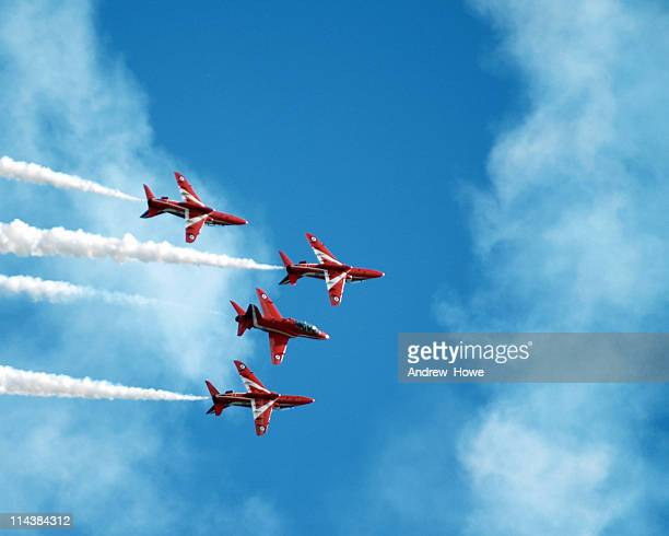 jet display team - raf stock pictures, royalty-free photos & images