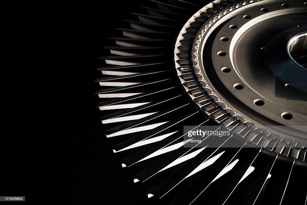 ジェットエンジンタービンブレード : ストックフォト