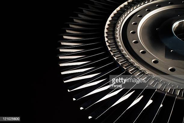 jet engine turbine blades - jet engine stock photos and pictures