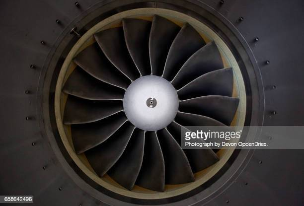 jet engine turbine intake - jet engine stock photos and pictures