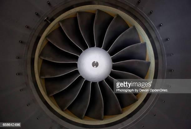 jet engine turbine intake - turbine stock photos and pictures