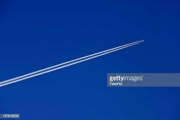 jet in the sky - fabio filzi stock photos and pictures