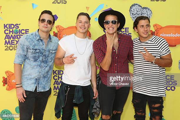 Jet Lag arrive at Nickelodeon Kids' Choice Awards Mexico 2015 Red Carpet at Auditorio Nacional on August 15 2015 in Mexico City Mexico
