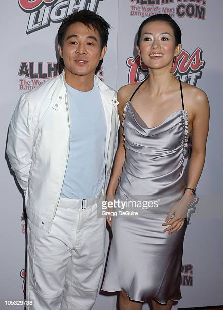 "Jet Li and Zhang Ziyi during ""Hero"" Los Angeles Premiere - Arrivals at Arclight Theatre in Hollywood, California, United States."