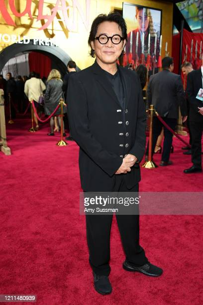 Jet Li attends the premiere of Disney's Mulan on March 09 2020 in Hollywood California
