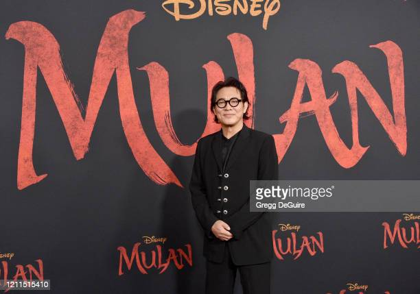 "Jet Li attends the Premiere Of Disney's ""Mulan"" on March 09, 2020 in Hollywood, California."