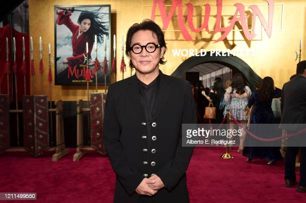 Jet Li attends the World Premiere of Disney's 'MULAN' at the Dolby Theatre on March 09 2020 in Hollywood California