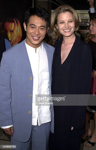 "Jet Li & Bridget Fonda during ""Kiss Of The Dragon"" Premiere at Loews Cineplex in Century City, California, United States."