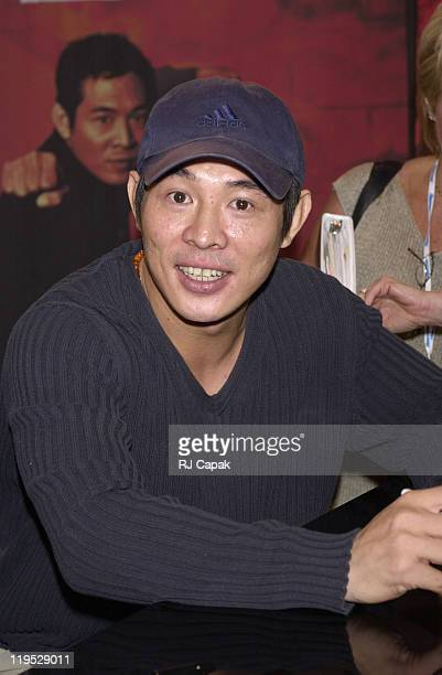 Jet Li during 2000 VSDA Convention at Venetian and Sands Exposition Center in Las Vegas Nevada United States