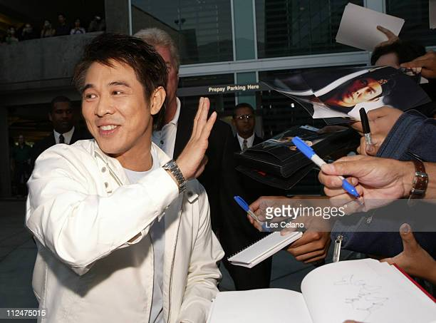 "Jet Li during ""Hero"" Los Angeles Premiere - Red Carpet at ArcLight Cinemas in Hollywood, California, United States."