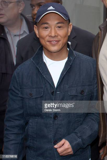 "Jet Li during Morgan Freeman, Jet Li, Brooke Shields and Carson Kressley Visit the ""Today"" Show - May 6, 2005 at NBC Studios in New York City, New..."