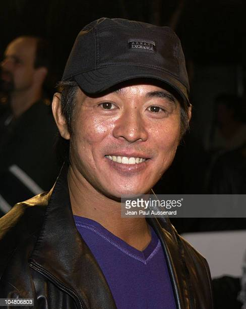 Jet Li during The Transporter Premiere at Mann Village Theater in Westwood California United States