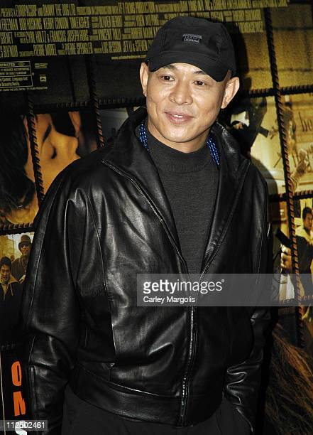 "Jet Li during ""Unleashed"" New York Premiere at Loews 19th St. In New York City, New York, United States."