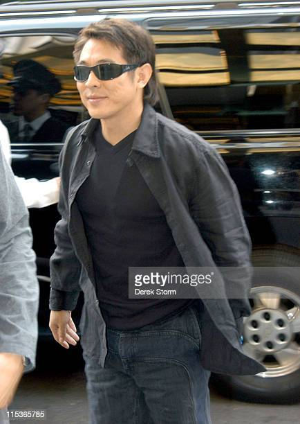 Jet Li enters his midtown Manhattan hotel during Jet Li Sighting in New York City - August 10, 2004 in New York City, New York, United States.