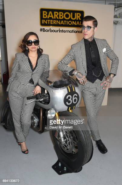 Jet Luna and Jimmy Q attend the Barbour International presentation during the London Fashion Week Men's June 2017 collections on June 9 2017 in...