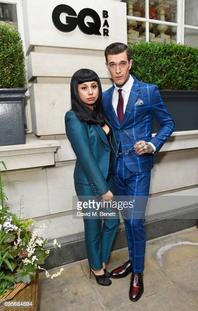 Jet Luna and Jimmy Q attend the GQ Bar popup launch party at the Rosewood London on June 13 2017 in London England