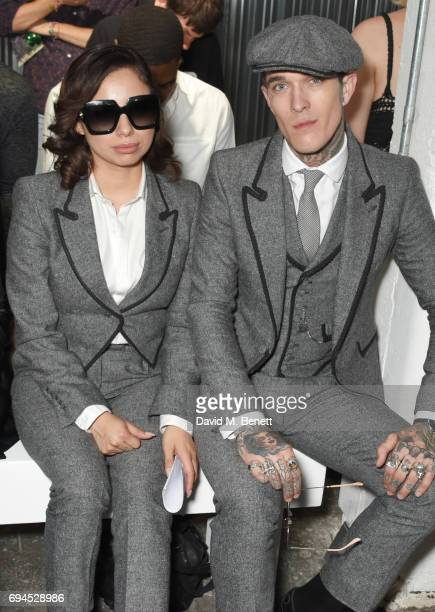 Jet Luna and Jimmy Q attend the MAN show during the London Fashion Week Men's June 2017 collections on June 10 2017 in London England