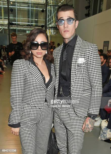Jet Luna and Jimmy Q attend the Oliver Spencer SS18 Catwalk Show during London Fashion Week Men's June 2017 on June 9 2017 in London England