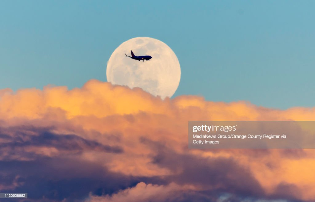 Super Snow Moon Over Orange County California : News Photo