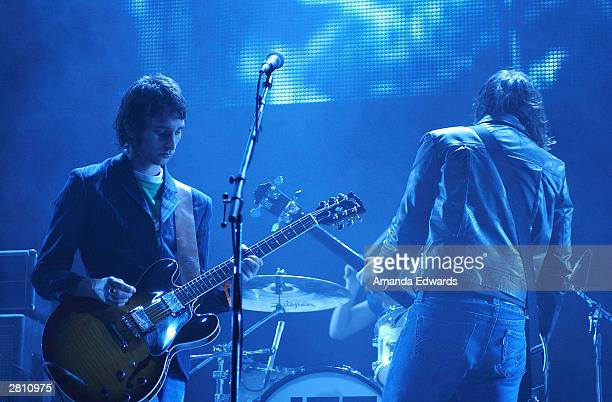 Jet perform at 'KROQ Almost Acoustic Christmas' at Universal Amphitheatre on December 14 2003 in Universal City California