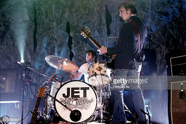 Jet performing at Irving Plaza on Tuesday night March 16 2004This imageNic Cester on guitar and Chris Cester on drums