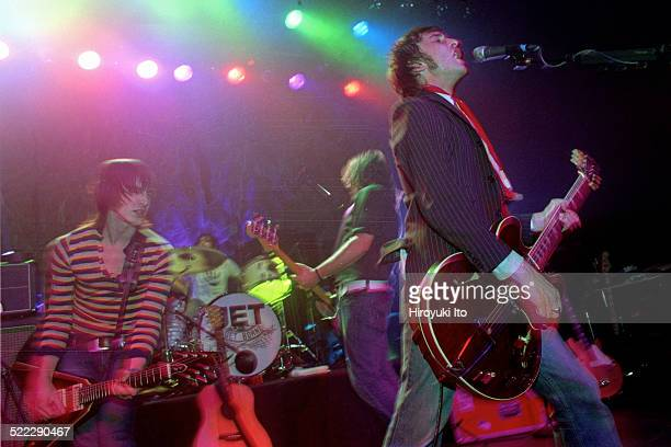 Jet performing at Irving Plaza on Tuesday night March 16 2004This imageFrom left Cameron Muncey Chris Cester Mark Wilson and Nic Cester