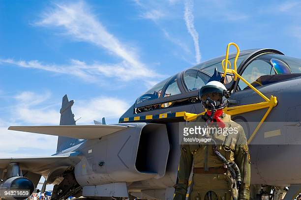 jet pilot - defending stock photos and pictures