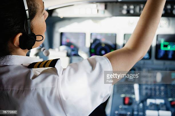 jet pilot preparing for takeoff - piloting stock pictures, royalty-free photos & images