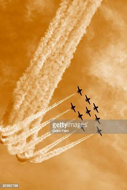 jet plane formation flying