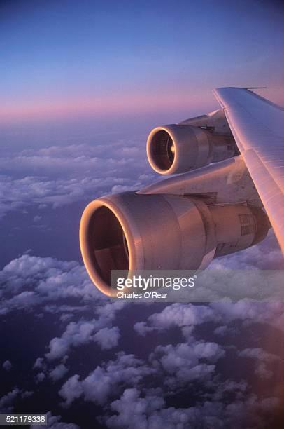 Jet Plane Soaring in Sky