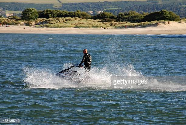 ジェットスキーでサンドバンクス/スタッドランド - プール湾 ストックフォトと画像