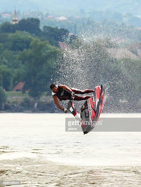 Jet-ski-freestyle Fahrt.