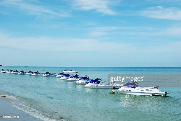 jet skis off coast of marco island, florida usa - marco island stock pictures, royalty-free photos & images