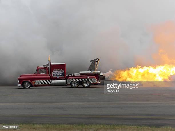 Jet Truck 57' Chevy Flame Smoke Air Show Hillsboro Oregon