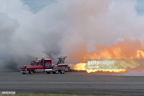 Jet Truck Flame Smoke 57' Chevy Air Show Hillsboro Oregon