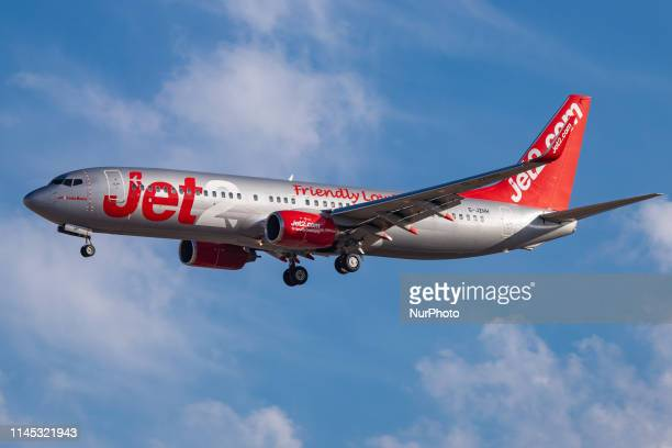 Jet2 or Jet2com budget airline carrier Boeing 737800 specifically 73785P winglets airplane with registration GJZHH and aircraft name Costa Brava...