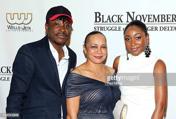 Jeta Amata Annikio Reid Briggs and Mbong Amata attend the Black November screening at John F Kennedy Center for the Performing Arts on May 8 2012 in...