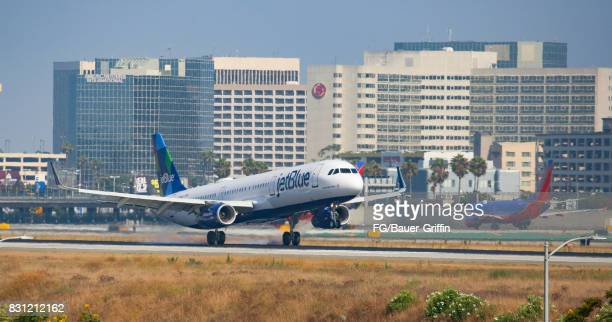 JetBlue Airbus A320 at Los Angeles international Airport on August 13 2017 in Los Angeles California