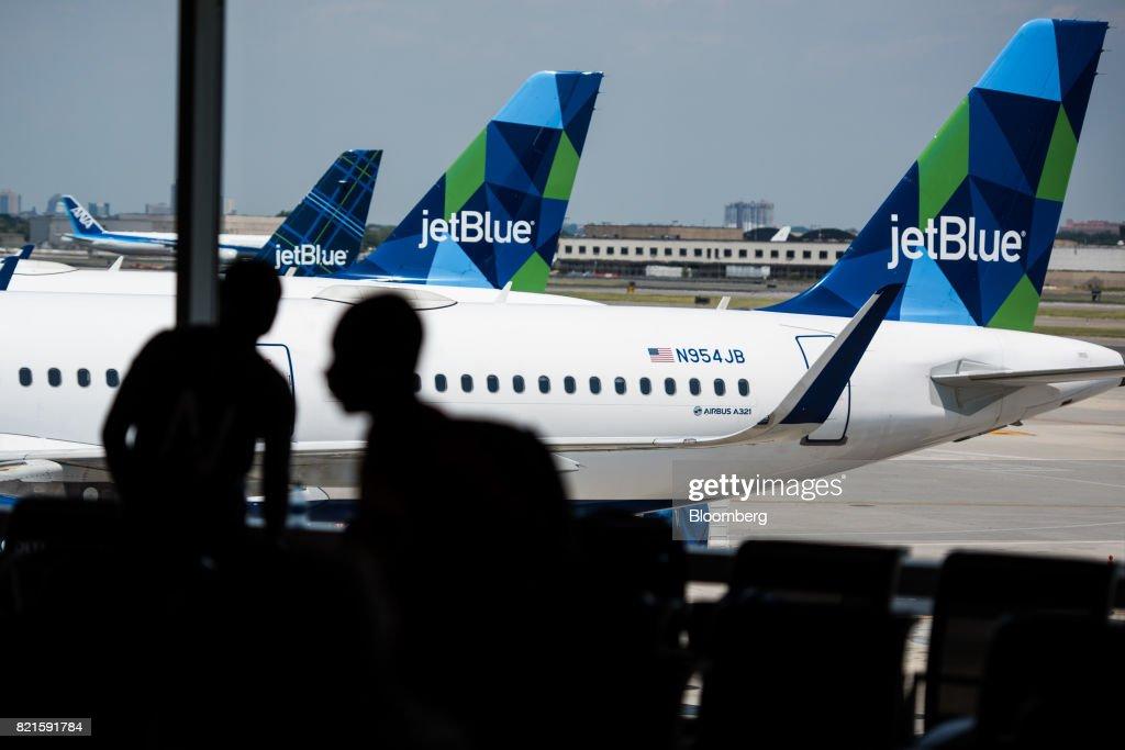 Inside JetBlue Airways Corp. Terminal 5 At JFK Ahead Of Earnings Figures : News Photo