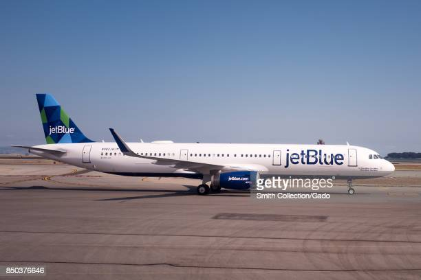 JetBlue passenger aircraft on the tarmac at San Francisco International Airport San Francisco California September 13 2017