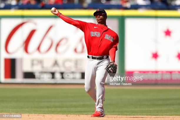 Jeter Downs of the Boston Red Sox in action against the Philadelphia Phillies during a Grapefruit League spring training game on March 07 2020 in...