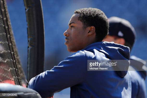 Jeter Downs of the Boston Red Sox looks on against the Philadelphia Phillies of a Grapefruit League spring training game on March 07 2020 in...