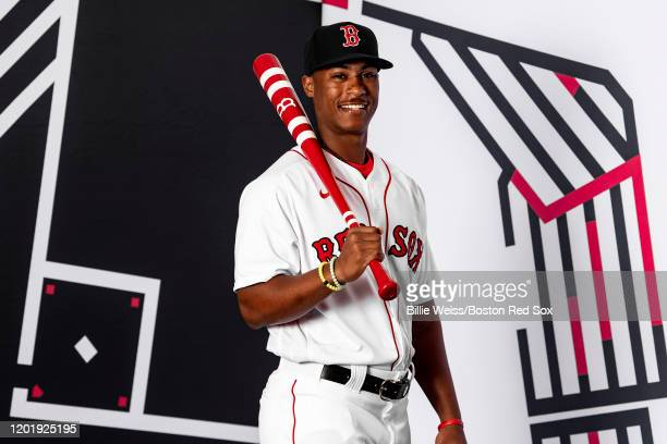 Jeter Downs of the Boston Red Sox poses for a portrait during team photo day on February 19 2020 at jetBlue Park at Fenway South in Fort Myers Florida