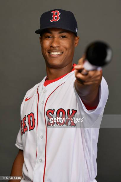Jeter Downs of the Boston Red Sox poses for Photo Day at Jet Blue Park at Fenway South on February 19 2020 in Fort Myers Florida