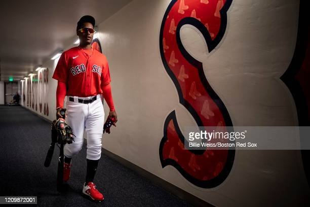 Jeter Downs of the Boston Red Sox walks through the tunnel before a Grapefruit League game against the Atlanta Braves on March 1 2020 at jetBlue Park...