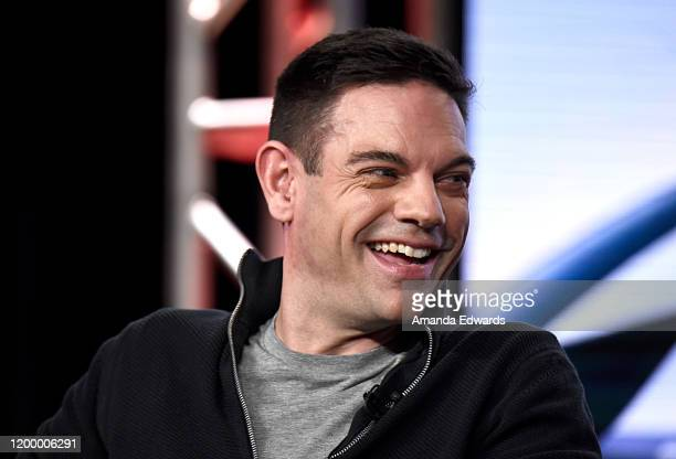 Jethro Bovingdon of 'Top Gear America' speaks onstage during the MotorTrend portion of the Discovery Inc TCA Winter Panel 2020 at The Langham...