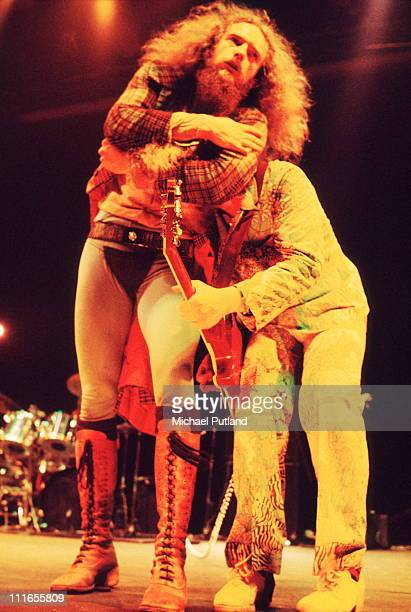 Jethro Tull perform on stage at the Wembley Empire Pool London 23rd June 1973 Ian AndersonMartin Barre