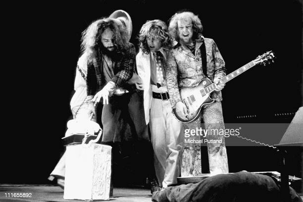 Jethro Tull perform on stage at the Wembley Empire Pool London 23rd June 1973 Ian AndersonJohn EvanMartin Barre