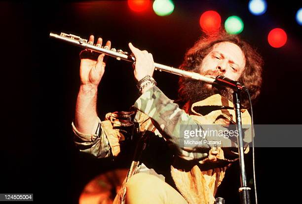 Jethro Tull perform on stage at Wembley Arena London 13th May 1982 Ian Anderson