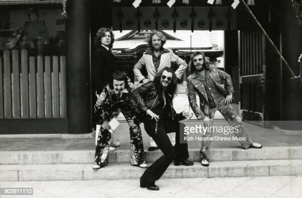 Jethro Tull taken at Akasaka Hie Shrine August 1972 Tokyo Japan Ian Anderson Martin Barre Jeffrey Hammond Barriemore Barlow John Evan